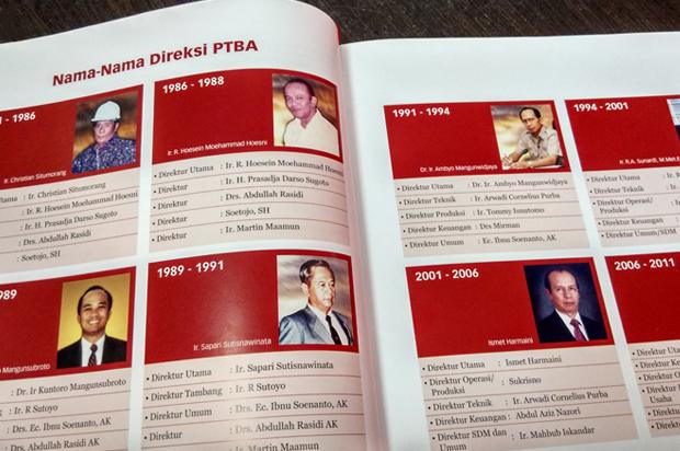 Direksi PTBA dari Masa ke Masa